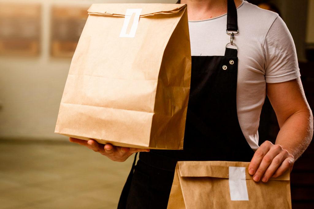 envases, bolsas y envoltorios para reparto a domicilio