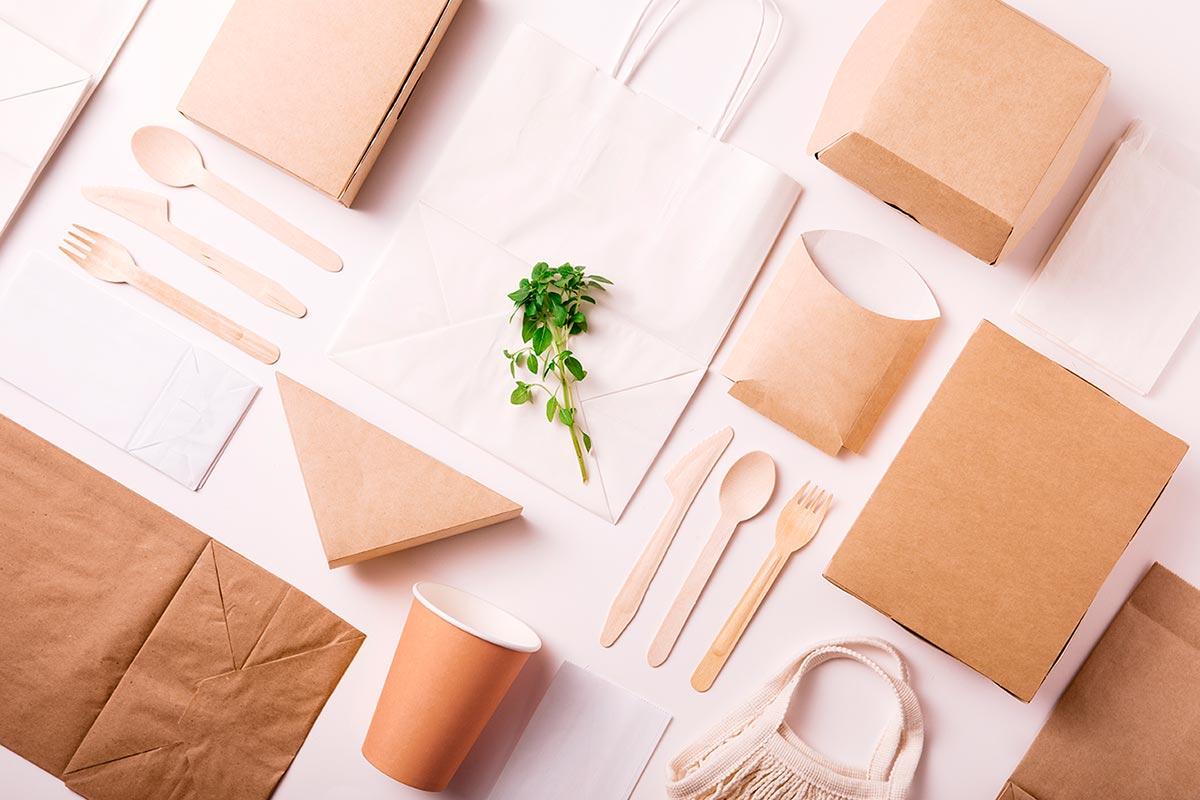 envases de cartón, papel antigrasa y para envío de comida a domicilio